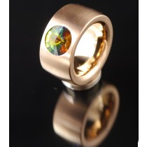 14mm Edelstahlring  PVD Rosé Gold mit Swarovski Elements - Crystal Vitrail medium