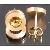 Edelstahl - Ohrstecker PVD rosé Gold Light Colorado Topaz Art.101