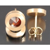 Edelstahl - Ohrstecker PVD rosé Gold Red Magma