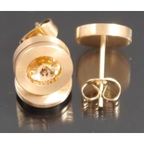 Edelstahl - Ohrstecker PVD rosé Gold light Peach Art.118