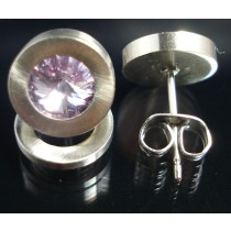 Edelstahl - Ohrstecker mit Swarovski Elements Fb. Violet light Art.53