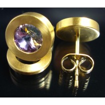Edelstahl - Ohrstecker PVD Gold mit Swarovski Elements Fb. Crystal Vitrail light Art.32