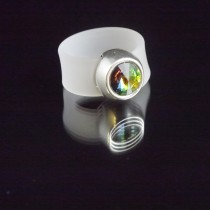 Silikonringe Transparent-Matt ZAMAK SLIDER + SWAROVSKI ELEMENTS STEIN