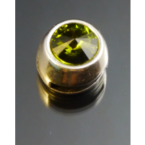 Zamak Slider 10mm x 3mm mit Swarovski Elements Stein Olivine